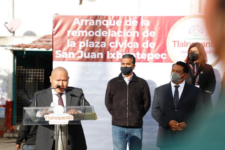 Tlalnepantla remodela plaza cívica de San Juan Ixhuatepec