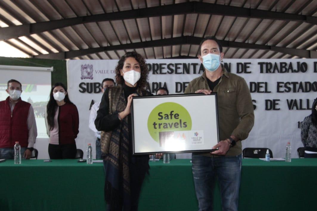 RECIBE VALLE DE BRAVO DISTINTIVO SAFE TRAVELS POR BRINDAR SEGURIDAD Y CONFIANZA AL TURISMO