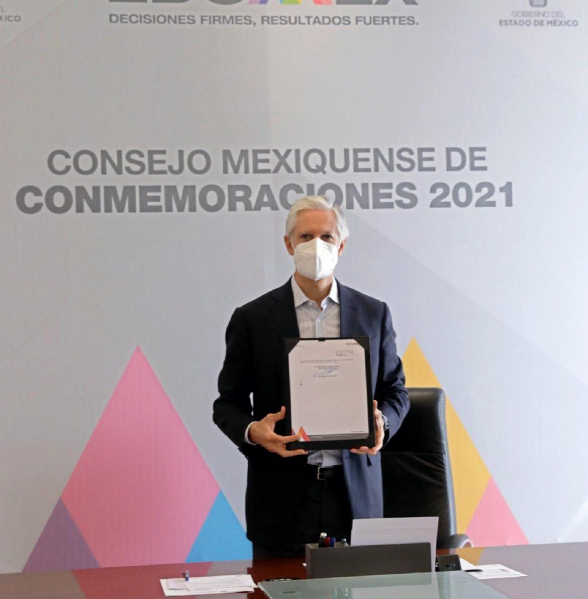 ENCABEZA EL GOBERNADOR ALFREDO DEL MAZO INSTALACIÓN DEL CONSEJO MEXIQUENSE DE CONMEMORACIONES 2021