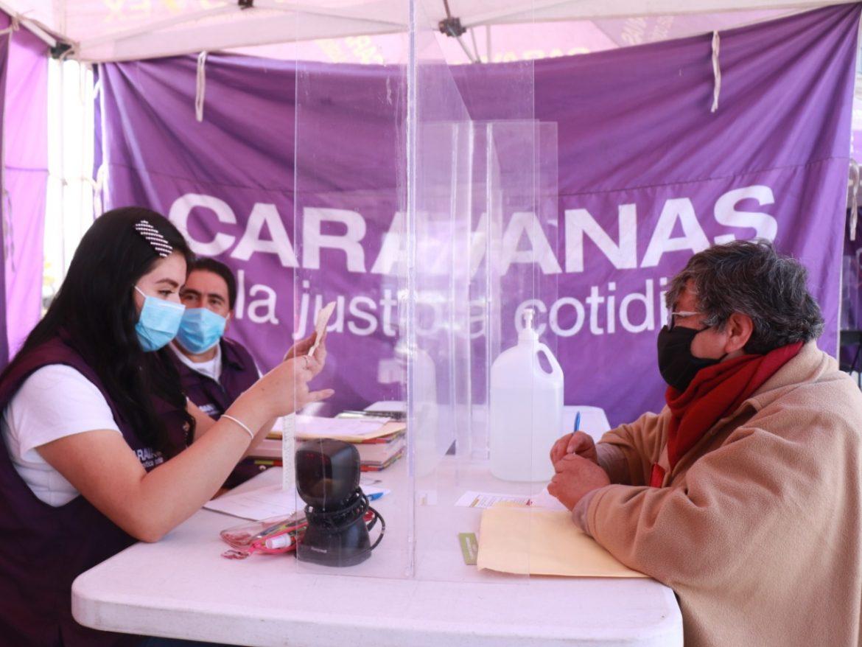 ATIENDEN CARAVANAS POR LA JUSTICIA COTIDIANA A MÁS DE 2 MIL PERSONAS TRAS SU REACTIVACIÓN PRESENCIAL