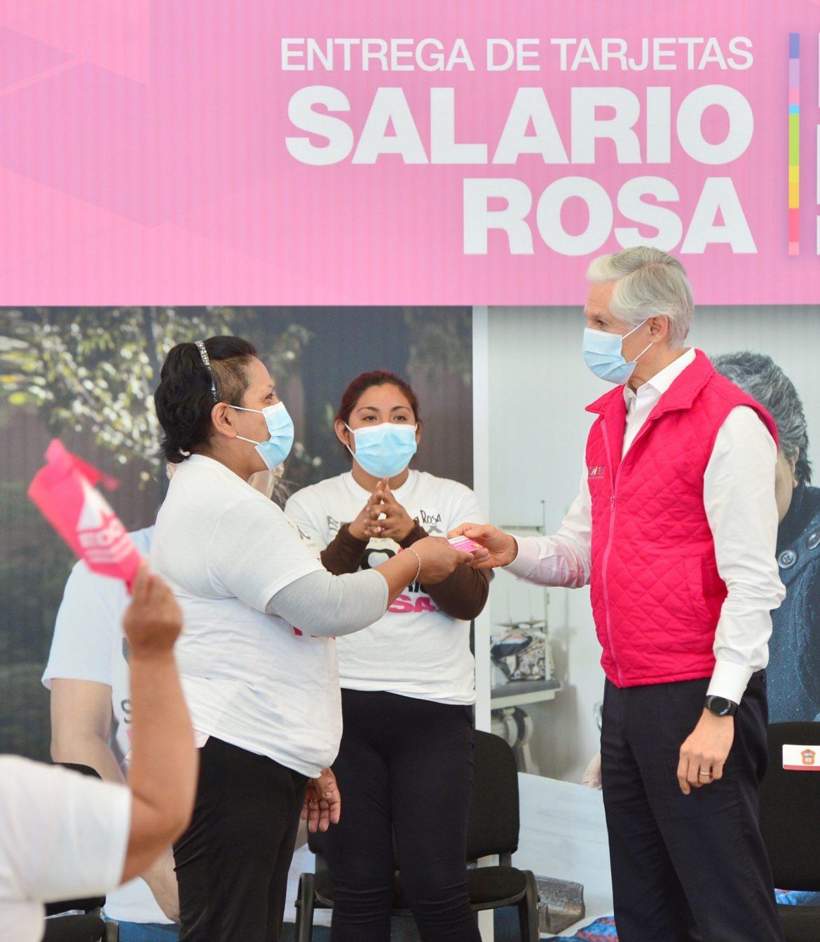 ENTREGAMOS EL SALARIO ROSA CON UN GRAN COMPROMISO PARA APOYAR A LAS AMAS DE CASA Y LA ECONOMÍA DE LAS FAMILIAS MEXIQUENSES: ALFREDO DEL MAZO
