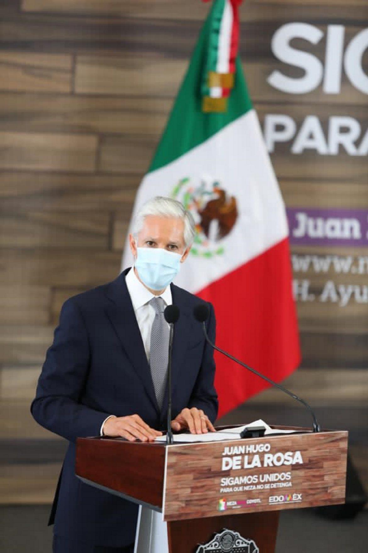 HACE UN LLAMADO ALFREDO DEL MAZO A MEXIQUENSES A NO BAJAR LA GUARDIA ANTE CRECIMIENTO DE CONTAGIOS POR COVID-19 Y EVITAR RESTRINGIR ACTIVIDADES Y MOVILIDAD
