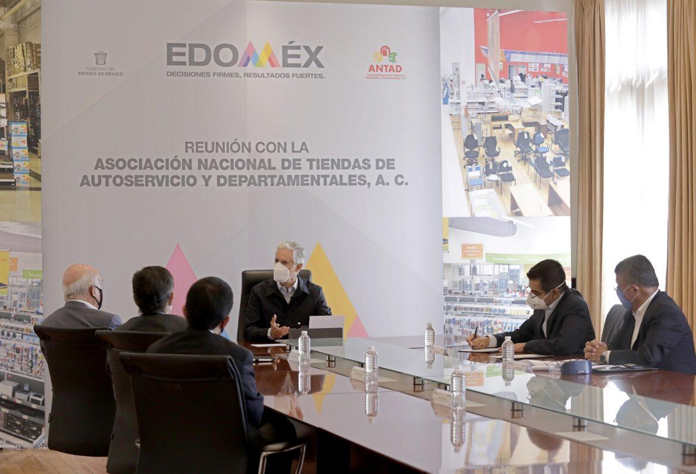 SOSTIENE REUNIÓN ALFREDO DEL MAZO CON INTEGRANTES DE LA ASOCIACIÓN NACIONAL DE TIENDAS DE AUTOSERVICIO Y DEPARTAMENTALES
