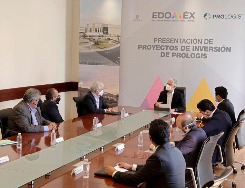 ENCABEZA GOBERNADOR ALFREDO DEL MAZO PRESENTACIÓN DE CARTERA DE PROYECTOS DE PROLOGIS MÉXICO