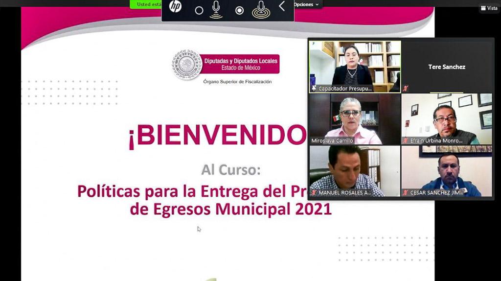 Capacita OSFEM a municipios para integrar el Presupuesto de Egresos 2021