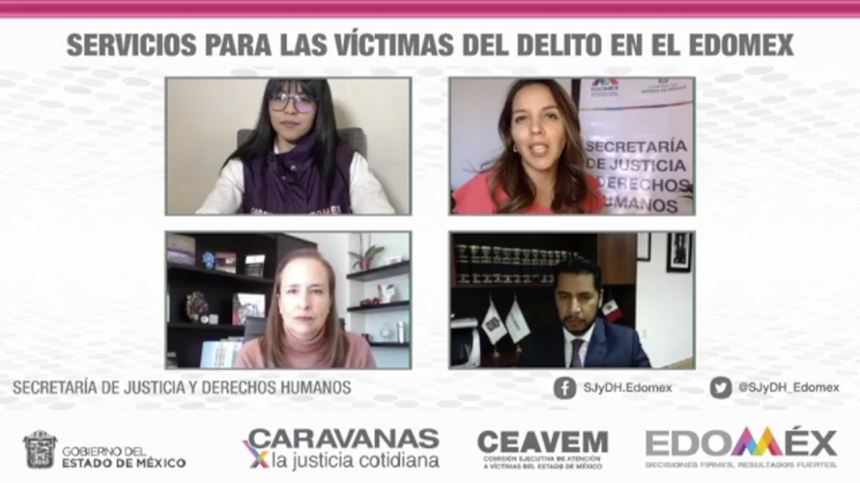 MANTIENE EDOMÉX ATENCIÓN A VÍCTIMAS DEL DELITO DURANTE CONTINGENCIA SANITARIA