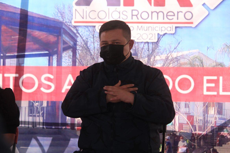 EN NICOLÁS ROMERO APRETAMOS EL PASO PARA REVERTIR LOS REZAGOS, ASEGURA EL ALCALDE