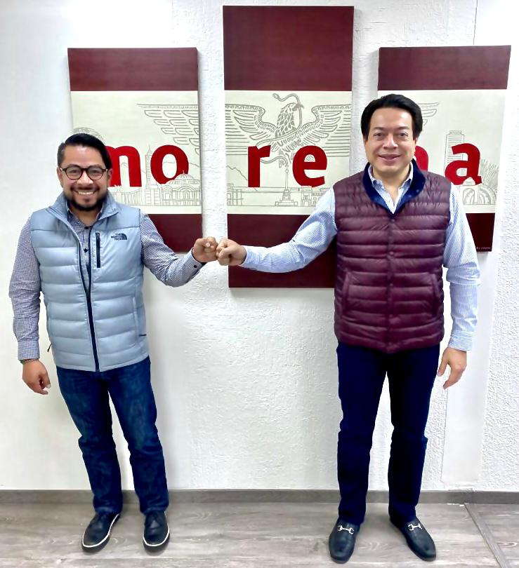 MARIO DELGADO Y DANIEL SERRANO TRABAJAN COORDINADOS PARA OBTENER LOS MEJORES RESULTADOS PARA MORENA EN LAS ELECCIONES 2021 EN EL EDOMEX