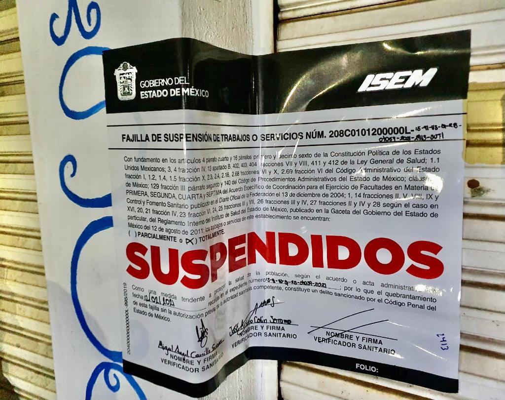 SUSPENDE COPRISEM 15 ESTABLECIMIENTOS CON VENTA DE BEBIDAS Y UNA FIESTA