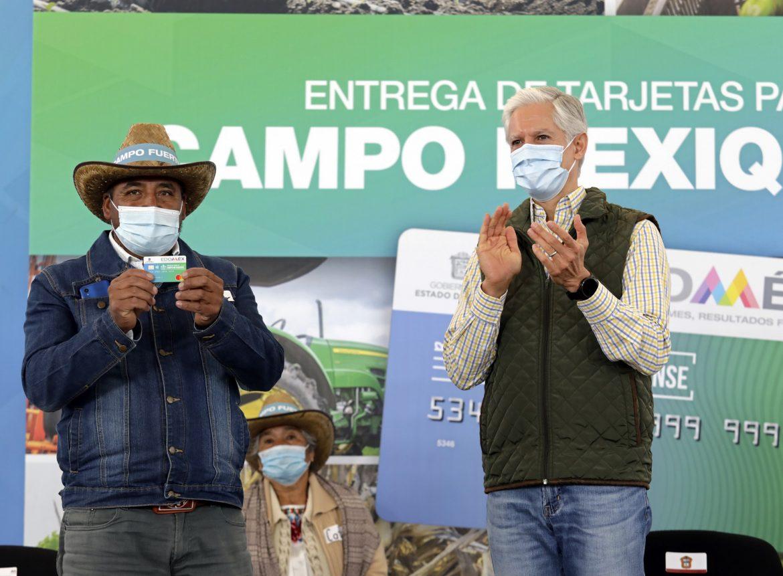 DA INICIO ALFREDO DEL MAZO AL PROGRAMA DE TARJETAS PARA EL CAMPO MEXIQUENSE PARA FORTALECER A LOS PRODUCTORES DEL EDOMÉX