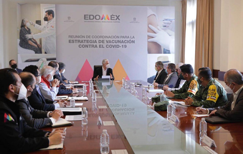 ENCABEZA GOBERNADOR ALFREDO DEL MAZO REUNIÓN DE COORDINACIÓN PARA LA ESTRATEGIA DE VACUNACIÓN CONTRA EL COVID-19