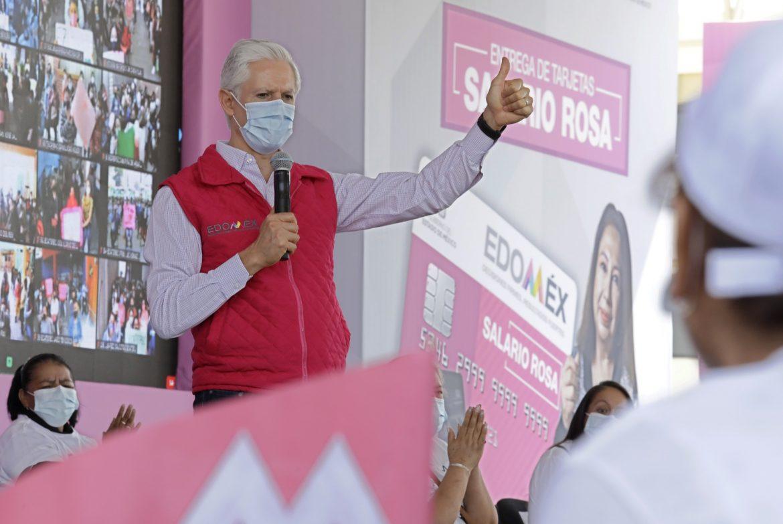 SABEMOS QUE EL SALARIO ROSA ES MUY IMPORTANTE PARA LAS FAMILIAS MEXIQUENSES, POR ESO CONTINUAMOS CON SU ENTREGA: ALFREDO DEL MAZO