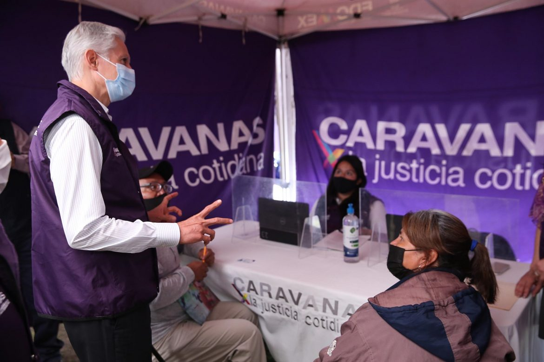 OFRECEN CARAVANAS POR LA JUSTICIA COTIDIANA MÁS DE 70 MIL TRÁMITES A MEXIQUENSES DURANTE CONTINGENCIA SANITARIA: ALFREDO DEL MAZO