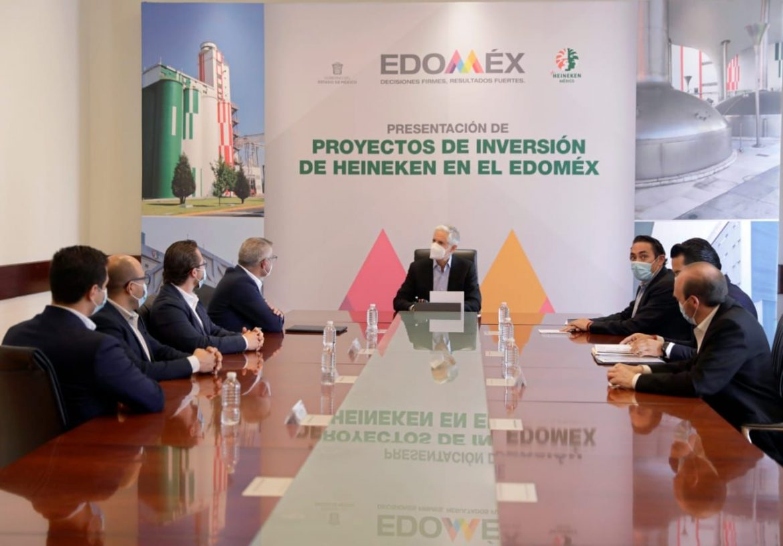 ENCABEZA ALFREDO DEL MAZO PRESENTACIÓN DE PROYECTO DE INVERSIÓN DE HEINEKEN EN EDOMÉX