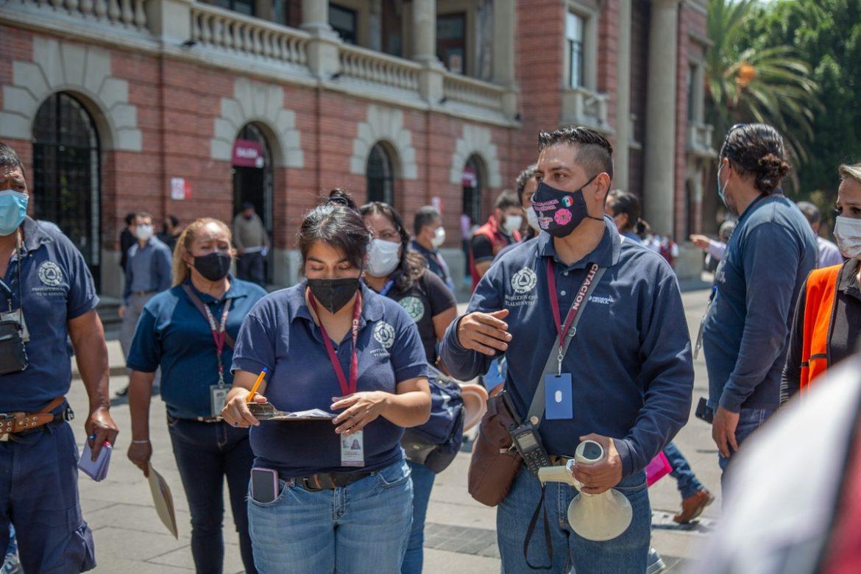 Tlalnepantla participa en Simulacro Nacional 2021