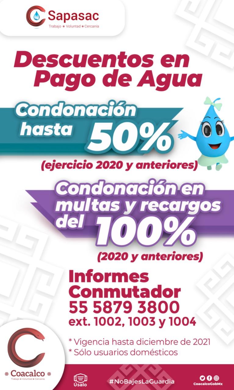 OFRECE SAPASAC DESCUENTOS EN EL PAGO DE AGUA Y CONDONACIÓN DE MULTAS Y RECARGOS