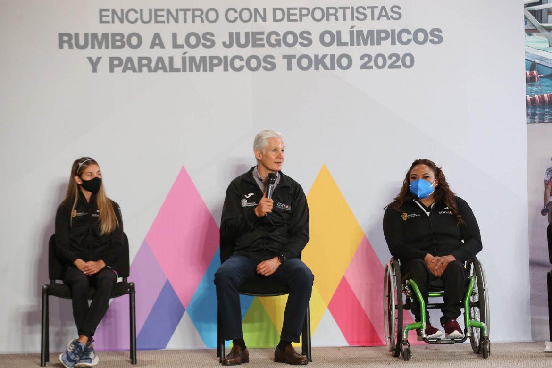 SOSTIENE ALFREDO DEL MAZO REUNIÓN CON DEPORTISTAS Y ENTRENADORES MEXIQUENSES QUE PARTICIPARÁN EN JUEGOS OLÍMPICOS Y PARALÍMPICOS EN TOKIO