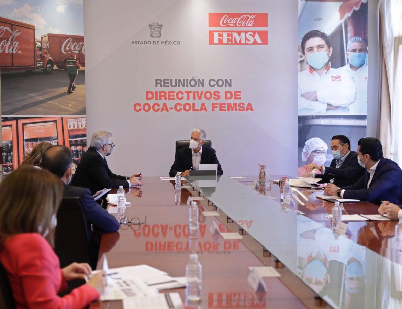 DESTACA EDOMÉX RESPONSABILIDAD SOCIAL CORPORATIVA Y PROYECTOS DE EXPANSIÓN DE COCA-COLA FEMSA