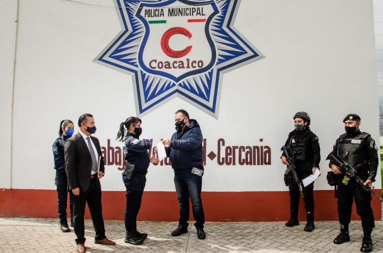 GOBIERNO DE COACALCO REFUERZA LA CAPACITACIÓN DE LA POLICÍA MUNICIPAL