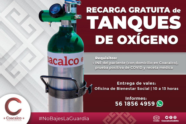 REFUERZA GOBIERNO DE COACALCO PLAN DE DOTACIÓN DE OXIGENO
