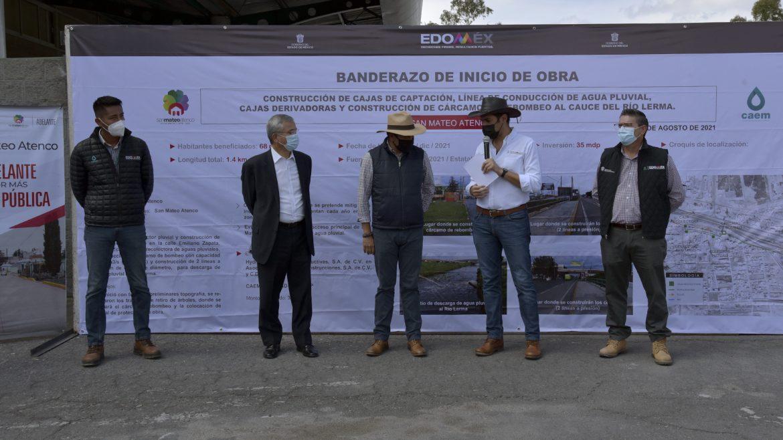 INICIA GEM OBRA HIDRÁULICA DE ALTO IMPACTO EN MATERIA PLUVIAL EN SAN MATEO ATENCO