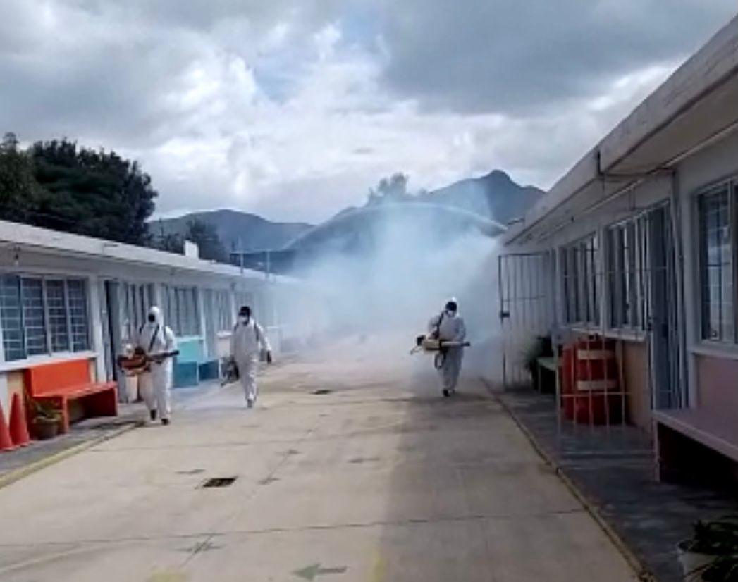MANTIENE GOBIERNO DE COACALCO SANITIZACIÓN GRATUITA DE ESCUELAS DEL MUNICIPIO