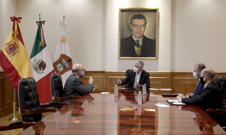 RECIBE GOBERNADOR DEL EDOMÉX A EMBAJADOR DE ESPAÑA EN MÉXICO PARA FORTALECER RELACIONES DE AMISTAD